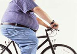 Fat Man On Bicycle 92